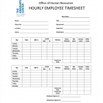 hourly timesheet